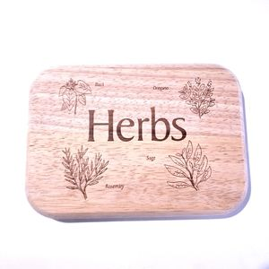 NWOT Cutting Board for Herbs Small Wooden